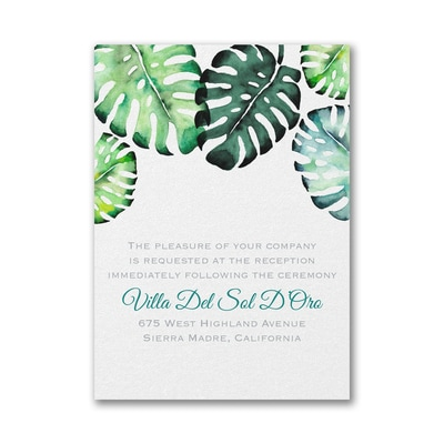 Romantic Palms - Reception Card