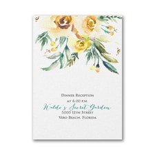 Watercolor Beauty - Yellow - Reception Card