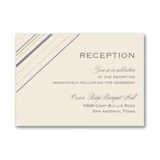 Cutting Edge - Reception Card - Ecru
