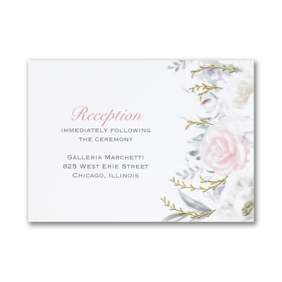 Ethereal Floral - Reception Card