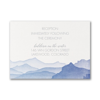 Picturesque Mountains - Reception Card