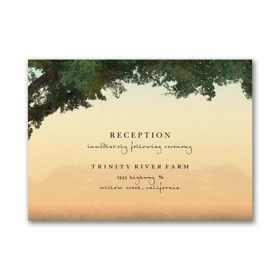 Sunset Romance - Reception Card