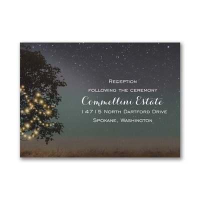 Countryside Romance - Reception Card