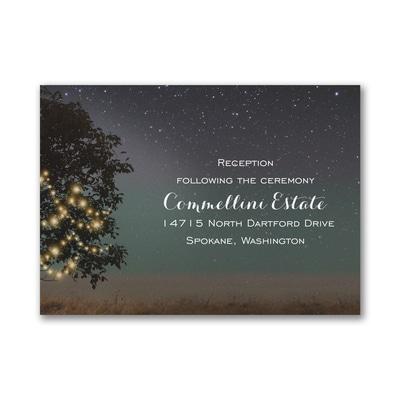 Countryside Romance - Reception Card