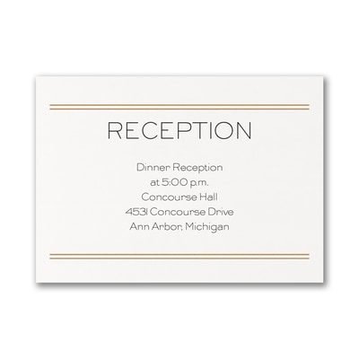 Lovely Elegance - Reception Card