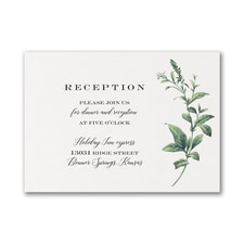 Lovely Greenery - Reception Card