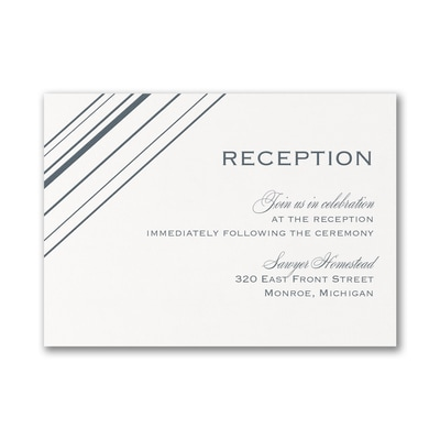 Modern Geometric - Reception Card