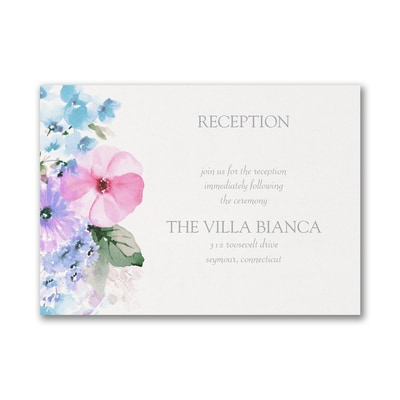 Pastel Floral - Reception Card