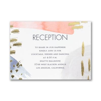Modern Romance - Reception Card
