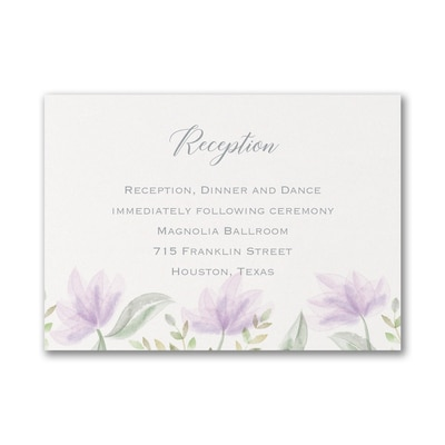 Tender Romance - Reception Card