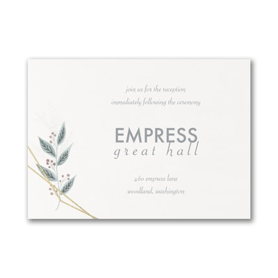 Naturally Beloved - Reception Card