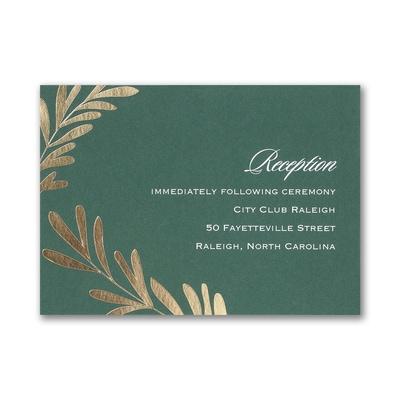 Contemporary Greenery - Reception Card