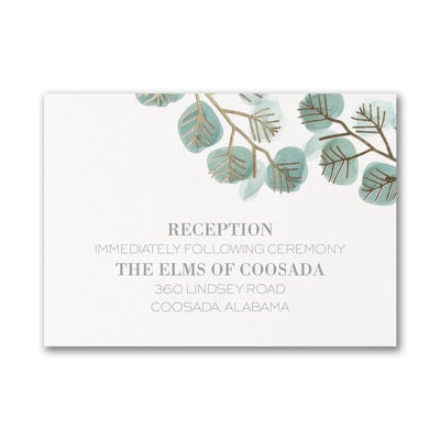 Captivating Leaves - Reception Card
