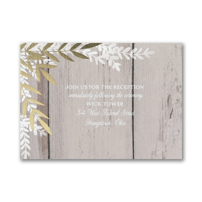 Rustic Beauty - Reception Card