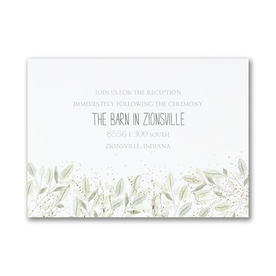Charming Greenery - Reception Card