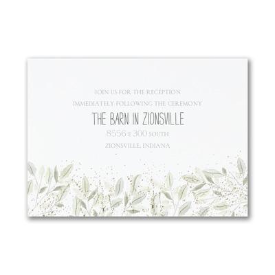 Charming Greenery - Reception Card