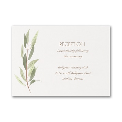 Nature's Touch - Reception Card