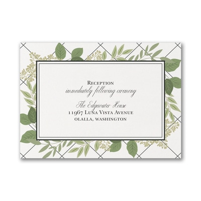 Lattice Love - Reception Card