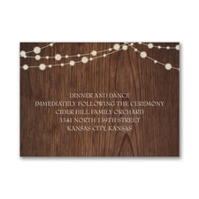 Rustic Evening - Reception Card