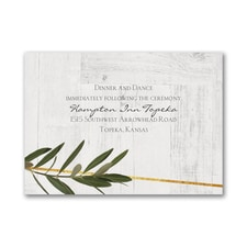 Rustic Dreams - Reception Card