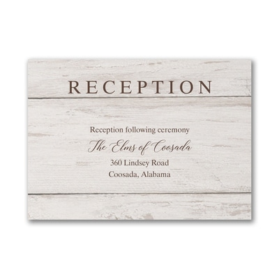 Nature's Darling - Reception Card