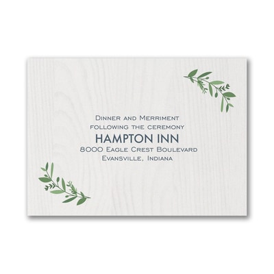 Beautiful Vines - Reception Card