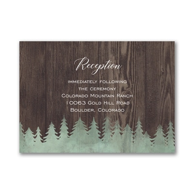 Rustic Forest - Reception Card