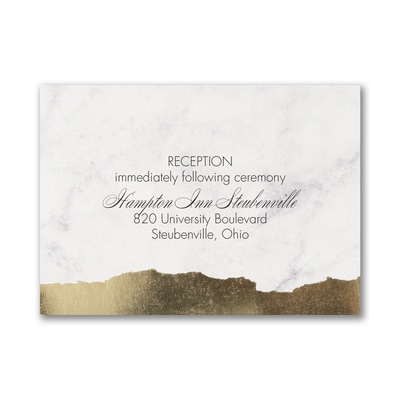 Modern Edge - Reception Card