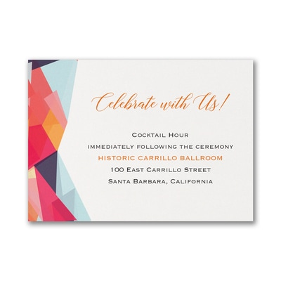Colorfully Modern - Reception Card