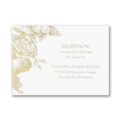 Vintage Floral - Reception Card