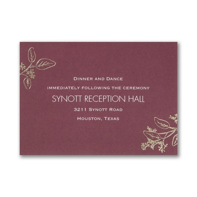 Flower-Patterned Romance - Reception Card