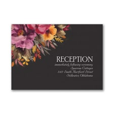 Fall Floral - Reception Card