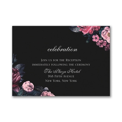 Winter Floral - Reception Card