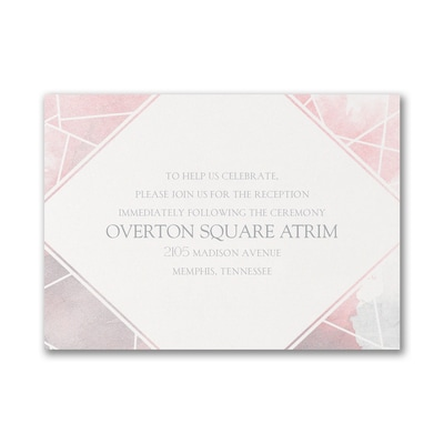 Watercolor Geo - Reception Card