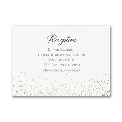 Shining Confetti - Reception Card
