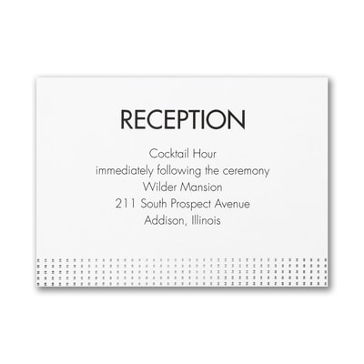 Wedding Wonder - Reception Card