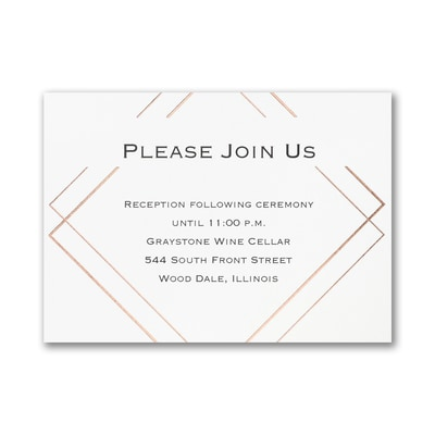 Shining Elegance - Reception Card