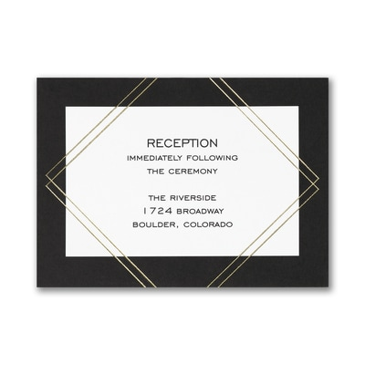 Classic Crest - Reception Card