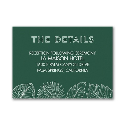 Beach Palms - Reception Card