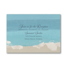 Beach Romance - Reception Card