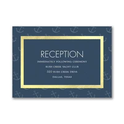 Seafaring Love - Reception Card