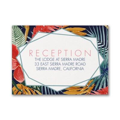Fabulous Floral - Reception Card