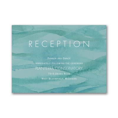 Shimmering Waves - Reception Card