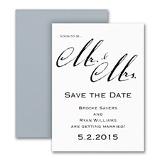 Save The Date: Mr. & Mrs.