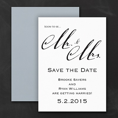 Mr. & Mrs. - Save the Date Magnet