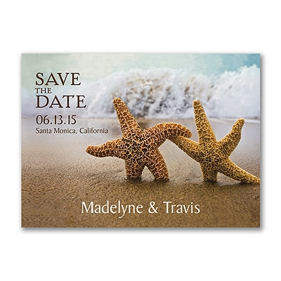 Starfish - Save the Date Postcard