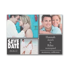 Collage Chic - Photo Save the Date