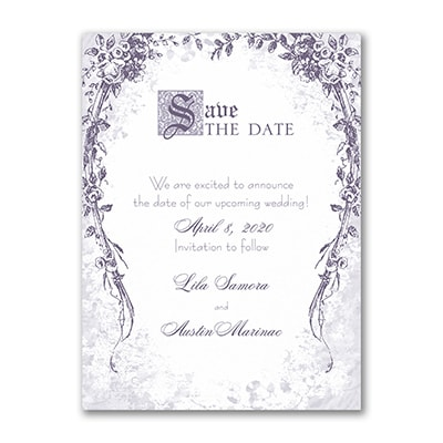 Vintage Garland - Save the Date - White
