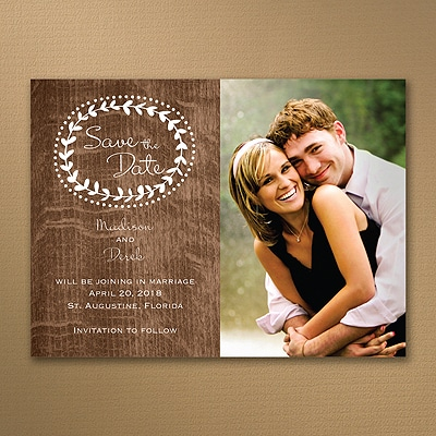 Rustic Woodgrain - Save the Date