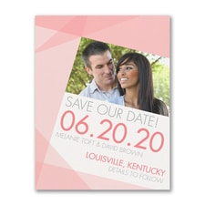 Shaded Geometric - Photo Save the Date